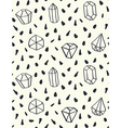 Hand drawn style seamless pattern with diamond vector image vector image