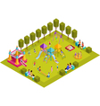 Isometric Kids Playground vector image vector image