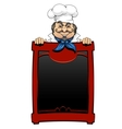 Italian chef with menu board vector image