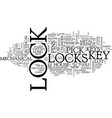 let s look at locks text background word cloud vector image vector image