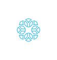 linear arabesque logo vector image vector image