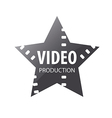 logo video shooting star vector image
