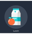 lunch icon vector image vector image