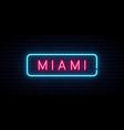 Miami neon sign bright light signboard banner