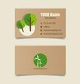 Modern business card template design editable vector image