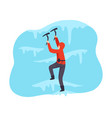 mountaineering man isolated on vector image vector image