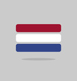 Netherlands flag state symbol stylized geometric vector image vector image