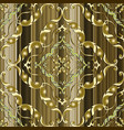 ornate gold 3d baroque seamless pattern vector image vector image
