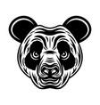 panda head monochrome in vector image