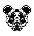 panda head monochrome vector image