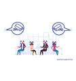 people cafeteria visitors sitting at cafe cctv vector image vector image
