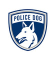 police dog shield mascot vector image vector image