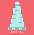 qasr amra in jordan flat cartoon style historic vector image vector image