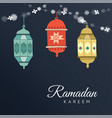 ramadan hand drawn arabic lanterns with a string vector image vector image