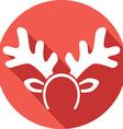 Reindeer Mask Icon vector image vector image