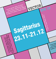 Sagittarius icon sign Modern flat style for your vector image