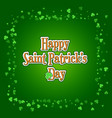 saint patricks day background with green clover vector image vector image