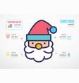 santa claus christmas shopping resources vector image vector image