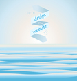 Sea background for web site vector image vector image
