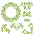 set of floral seamless detailed ornaments borders vector image vector image