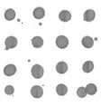 set of gray blots on the white background ink vector image