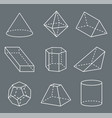 shapes with lines collection vector image vector image