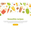 smoothie banner template with healthy vitamin vector image vector image