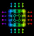 spectral colored pixel asic processor icon vector image
