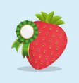 strawberry natural product quality vector image vector image