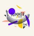 summer time stylish poster trendy graphics vector image vector image