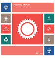 sun icon symbol elements for your design vector image vector image