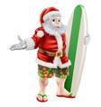 surf santa vector image vector image