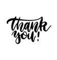 thank you - handwritten black vector image