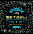 typographic retro christmas design on winter vector image