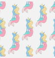 unicorn mermaid seamless pattern vector image