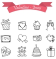 Valentine day icons with hand drawn vector image vector image