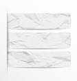 white paper banners set eps vector image