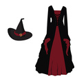 Witch costume vector image vector image