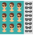 Women sunglasses shapes for different faces vector image vector image