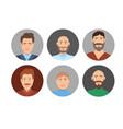 businessman round avatars vector image