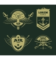 Color military patches vector image