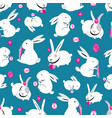 seamless bright pattern of easter bunnies vector image