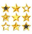 Gold stars set vector image