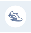 Running icon isolated on white logo element with vector image