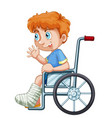 a boy on wheelchair vector image
