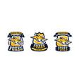 a collection colorful logos emblems fox head vector image vector image
