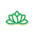 abstract leaf lotus eco logo vector image