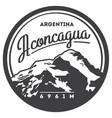 aconcagua in andes argentina outdoor adventure vector image