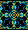 arabesque ornate 3d seamless pattern damask vector image