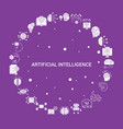 artificial intelligence icon set infographic vector image vector image